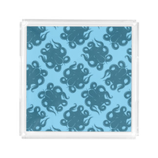Octopus On Blue Pattern Perfume Tray