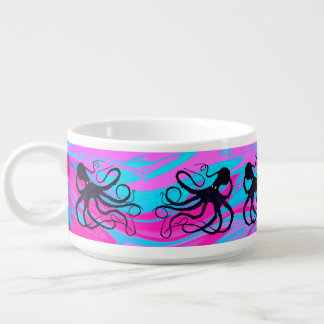 Octopus on Pink & Blue - Chili Bowl
