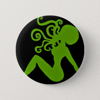 Octopus Pin-up Badge 2 Inch Round Button