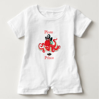 Octopus Pirate Prince Baby Romper