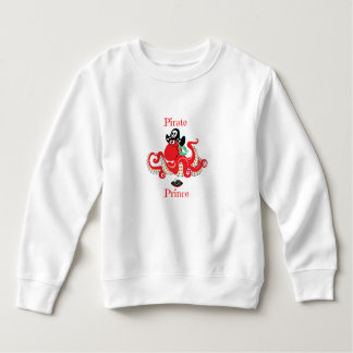 Octopus Pirate Prince Toddler Fleece Sweatshirt