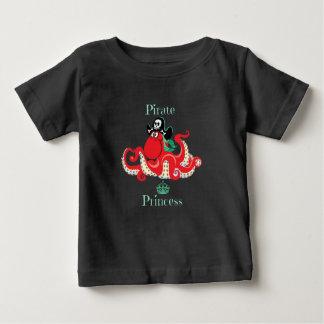 Octopus Pirate Princess Baby Fine Jersey T-Shirt