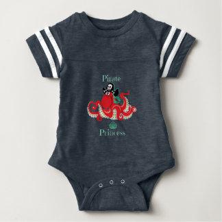 Octopus Pirate Princess Baby Football Bodysuit