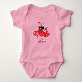 Octopus Pirate Princess Baby Jersey Bodysuit