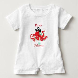 Octopus Pirate Princess Baby Romper