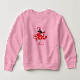 Octopus Pirate Princess Toddler Fleece Sweatshirt