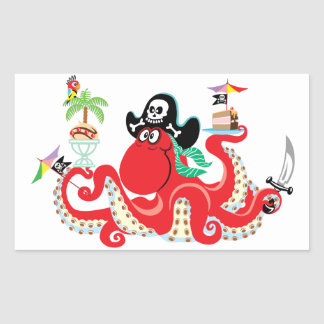 octopus pirate sticker