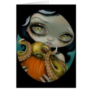 """Octopus Pumpkin"" Greeting Card"