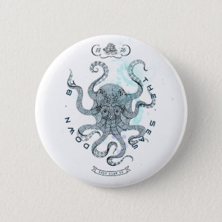 Octopus - Salt Club 76 - Down by the Sea 2 Inch Round Button