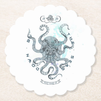 Octopus - Salt Club 76 - Down by the Sea Paper Coaster