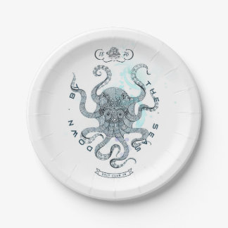 Octopus - Salt Club 76 - Down by the Sea Paper Plate