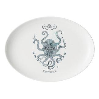 Octopus - Salt Club 76 - Down by the Sea Porcelain Serving Platter