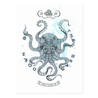 Octopus - Salt Club 76 - Down by the Sea Postcard