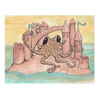Octopus & Sandcastle Postcard