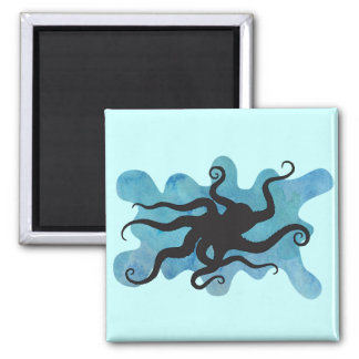 Octopus silhouette magnet
