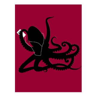 Octopus Sillouette MP3 Adverisement Spoof Postcard