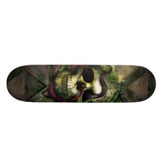 Octopus Skull Grunge Skateboard Deck