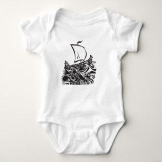 Octopus, Squid, Vikings: Terrible Trio Tee! Baby Bodysuit