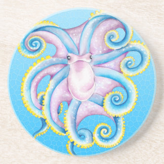 Octopus Stained Glass Coaster