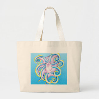 Octopus Stained Glass Large Tote Bag