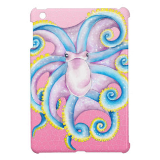 Octopus Stained Glass Pink Case For The iPad Mini