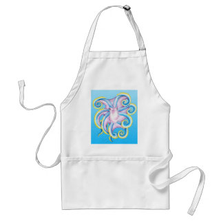 Octopus Stained Glass Standard Apron