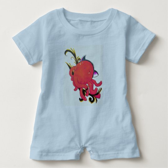 Octopus,surprise kitty hat baby romper