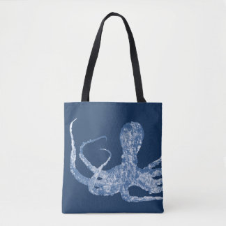 Octopus Tote Bag - indigo