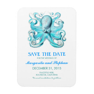 Octopus Turquoise Beach Save the Date Magnet