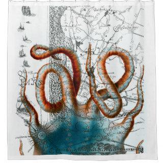 Octopus Vintage Map