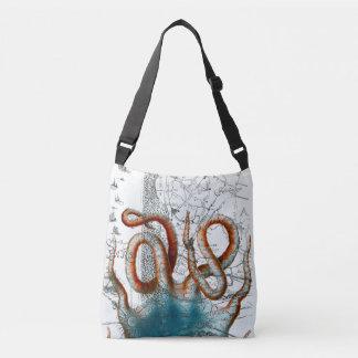 Octopus Vintage Map Crossbody Bag