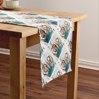 Octopus Vintage Map Short Table Runner