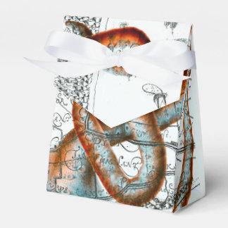 Octopus Vintage Map Wedding Favor Box