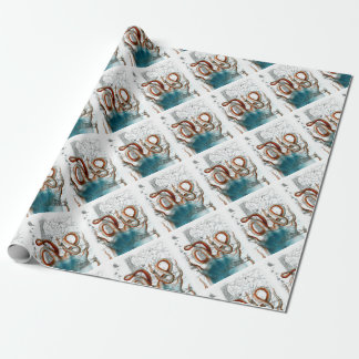 Octopus Vintage Map Wrapping Paper