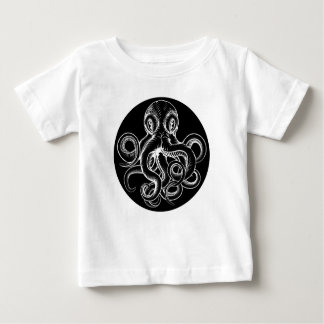Octopus vintage woodcut engraved etched style baby T-Shirt