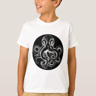 Octopus vintage woodcut engraved etched style T-Shirt