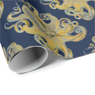 Octopus Vulgaris by Ernst Haeckel Wrapping Paper