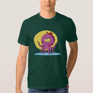 Octopus Wearing A Red Ball Cap Mens T-Shirt