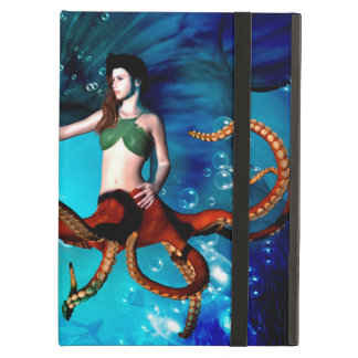 Octopus women with dolphin iPad air covers