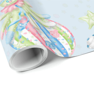 "OCTOPUSS BABY  30"" x 15'    CARTOON Wrapping Paper"