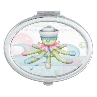 OCTOPUSS BABY CARTOON compact mirror OVAL