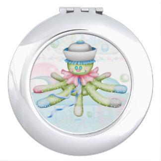 OCTOPUSS BABY CARTOON compact mirror ROUND