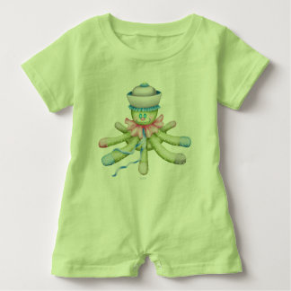 OCTOPUSS BABY CUTE Baby Romper LIME