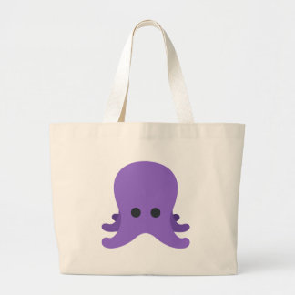 Octopuss Emoji Large Tote Bag
