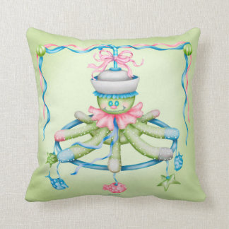 OCTOPUSS SQUID BABY THROW PILLOW 16 X 16