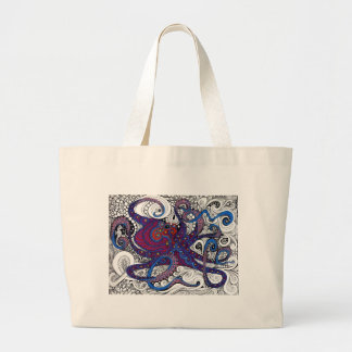 octpus! large tote bag