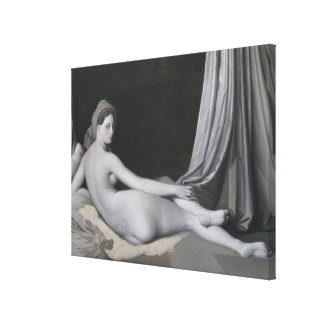 Odalisque in Grisaille Canvas Print