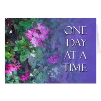 ODAT One Day at a Time Rhododendrons Card