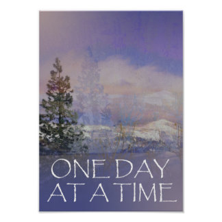 ODAT Trees Hills Snow Poster