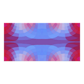 Odd Abstract in Blue and Pink Personalized Photo Card